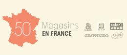50 magasins en France