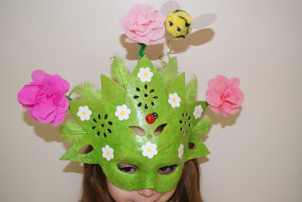 """Masque """"Le printemps est arrivé"""" - Les p'tites décos de Lolo - résultat"""