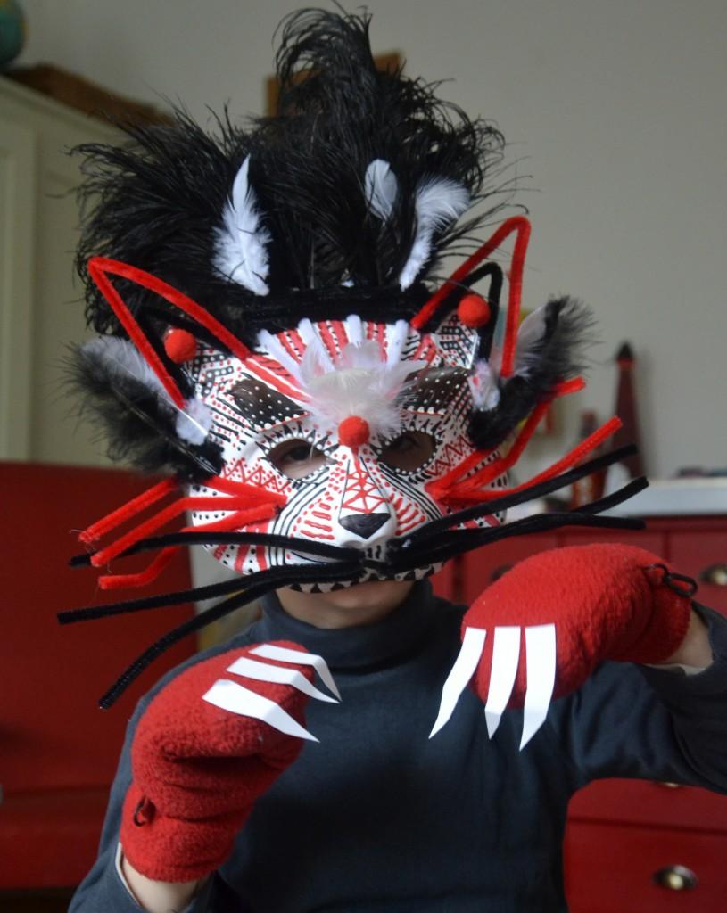 DIY Masque Tigre de Venise - La Fabutineuse