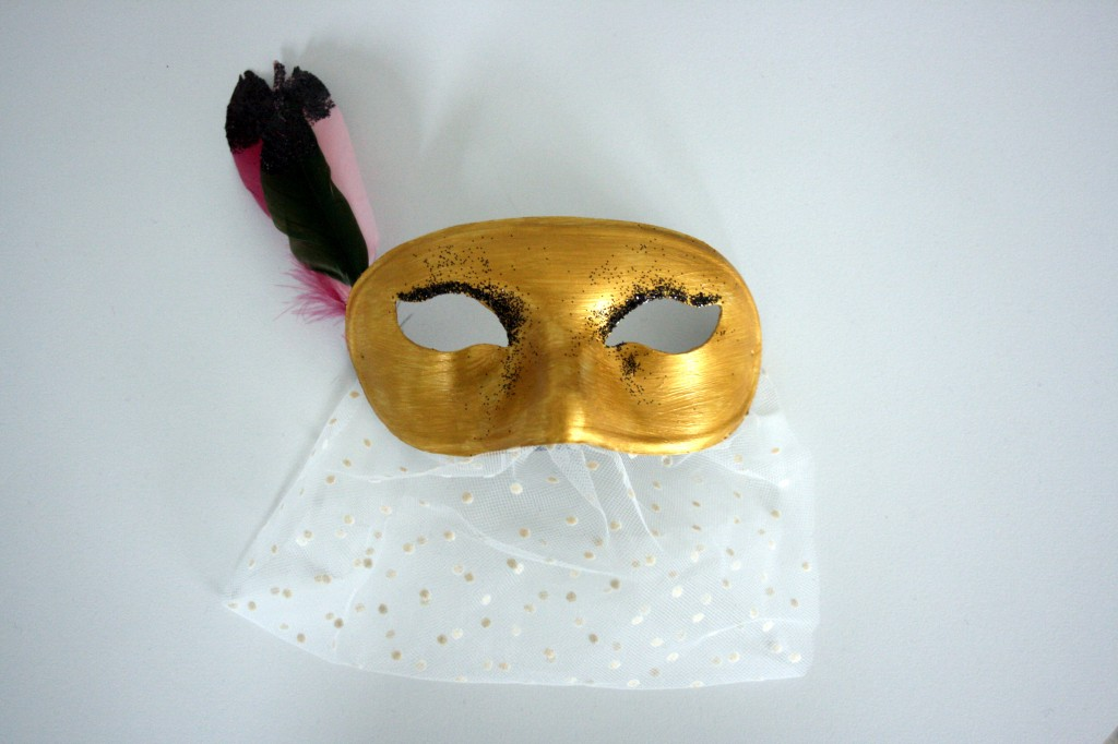 "Masque ""Gold & black"" - Emilie sans chichi"