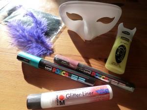 DIY Masque coloré et phosphorescent - Quotidien créatif - matériel