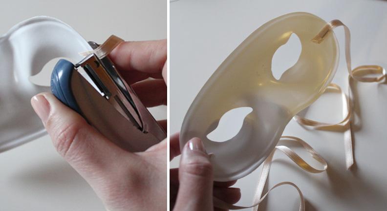 Masque Des plumes de papier Ellybeth - étape 1