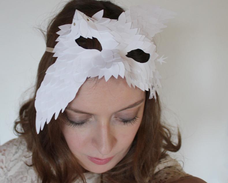 DIY Masque Des plumes de papier Ellybeth