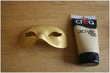 "Masque ""Gold & black"" - Emilie sans chichi - étape 1"