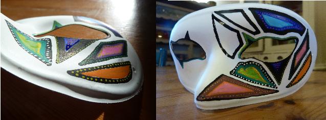 DIY Masque coloré et phosphorescent - Quotidien créatif - étape 2
