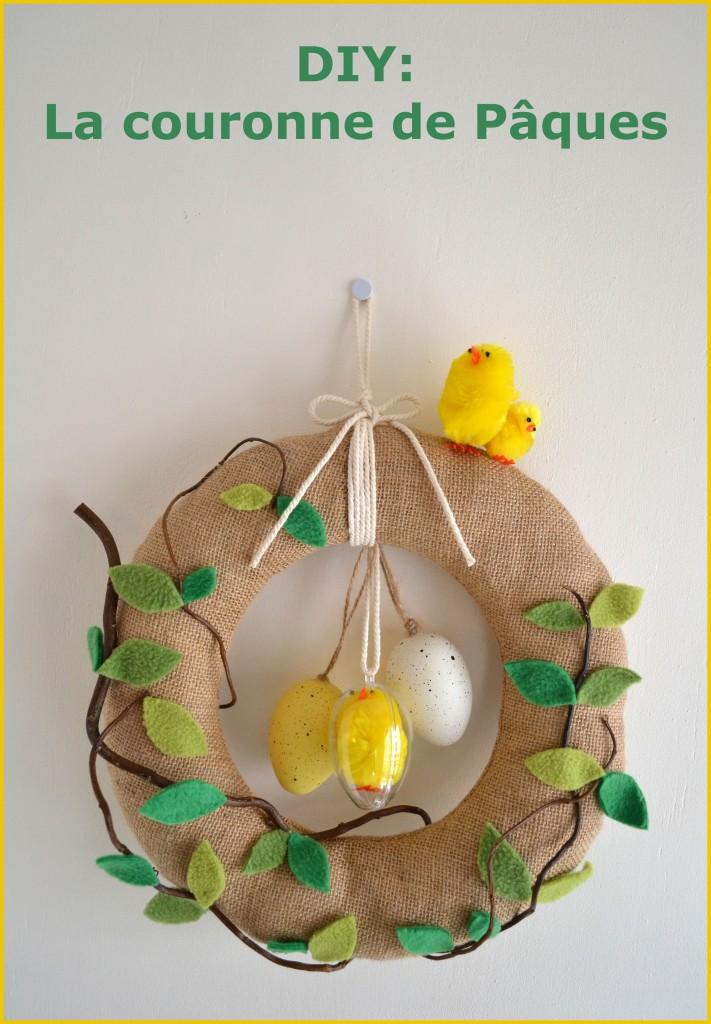 Couronne de Pâques DIY 1