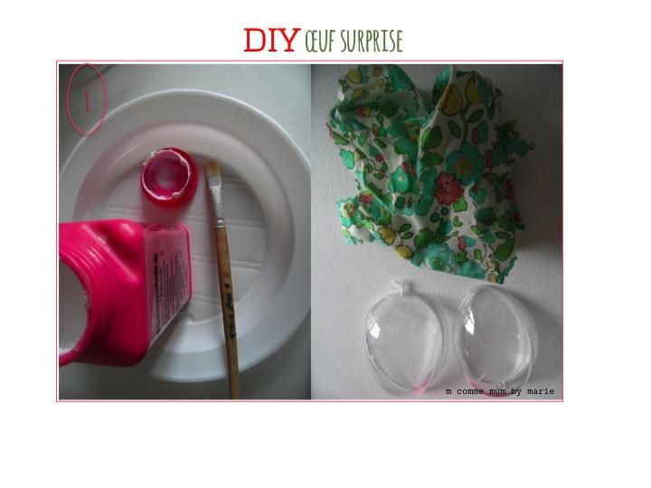 DIY oeuf surprise Pâques
