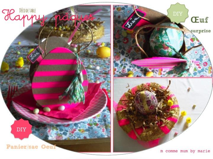 Déco de table Happy Pâques