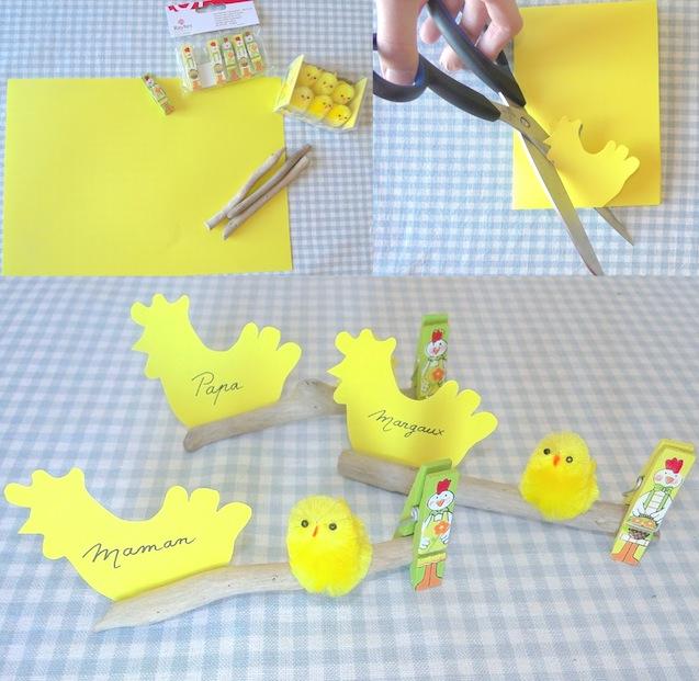 DIY Porte-nom de Pâques