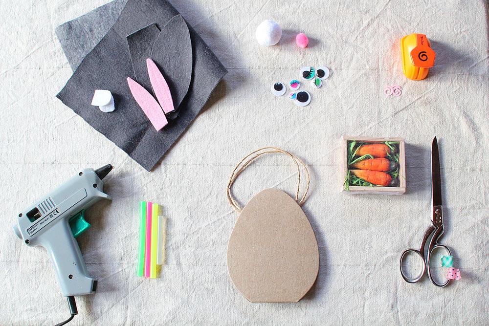 DIY Lapin chasseur - panier de Pâques