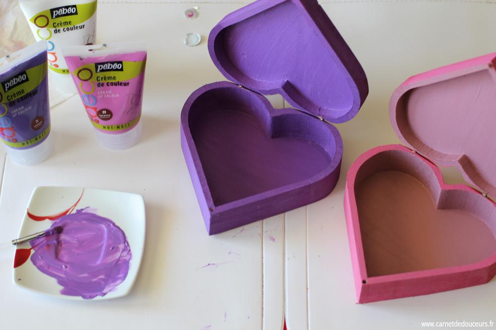 Peindre les boîtes