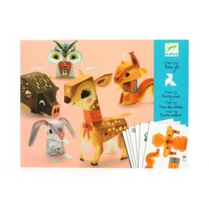 Maquette 3D en papier Papers toys bois joli