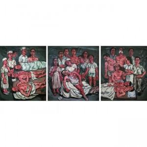 Zeng Fanzhi, Hospital Triptych No.2, 1992