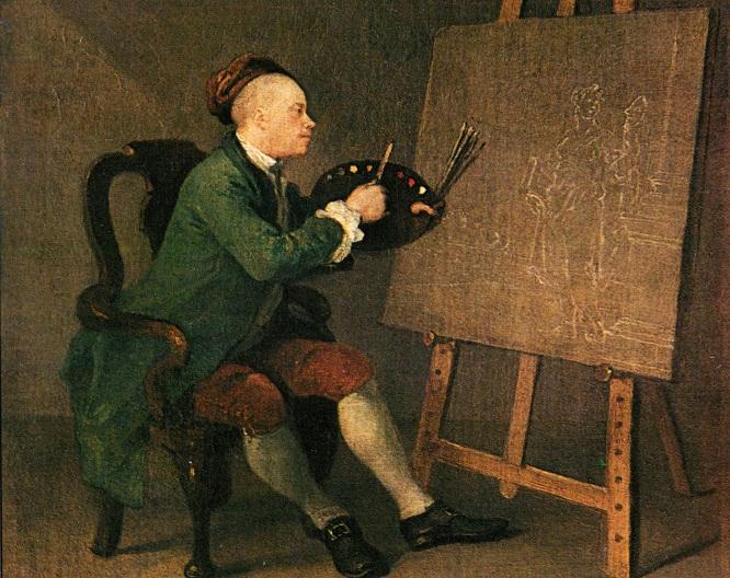 Autoportrait William Hogarth