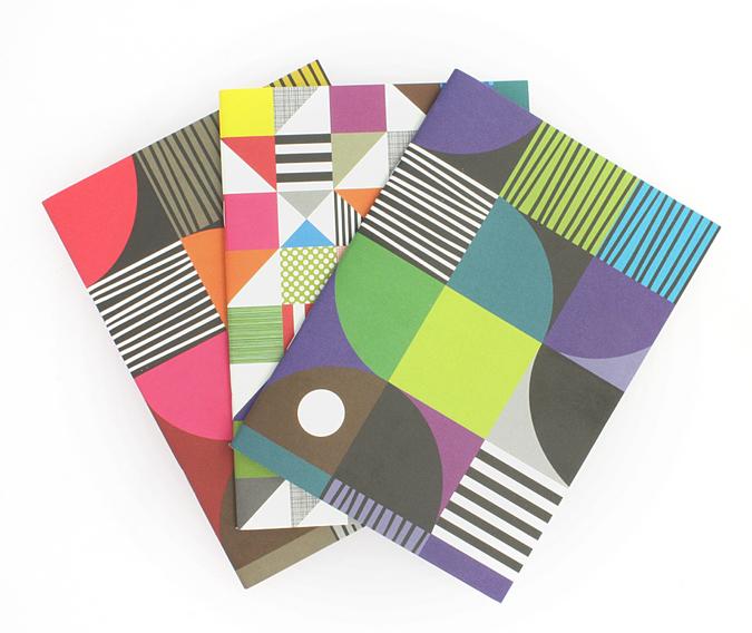 Set de 3 cahiers avec 3 couvertures