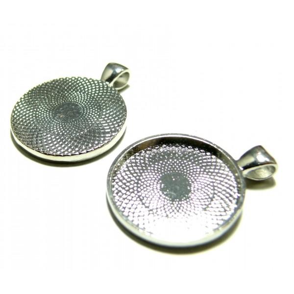 appret-bijoux-6-support-de-pendentif-rond-25mm-argent-platine-qualite-extra