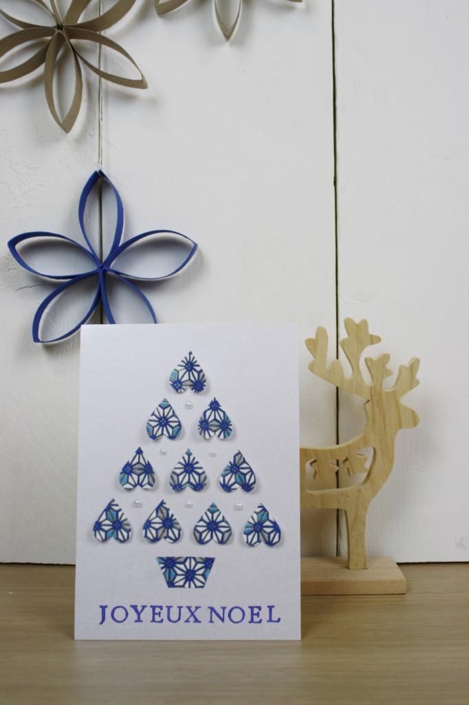 Carte de voeux Noël givré
