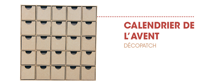 tuto mon calendrier de l 39 avent le blog rougier ple. Black Bedroom Furniture Sets. Home Design Ideas